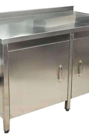 paslanmaz çelik dolaplı tezgah
