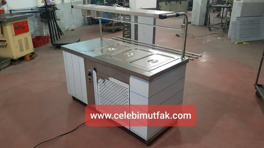 Elektrikli Soğutmalı Yemek Servis Tezgahı