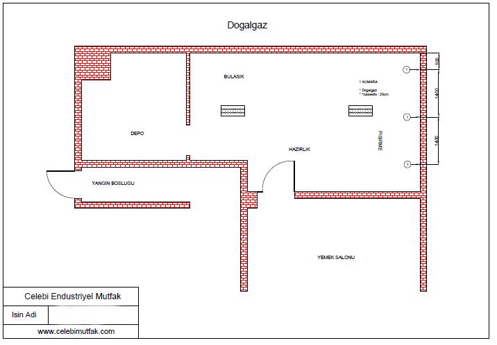 Endüstriyel mutfak gaz tesisatı
