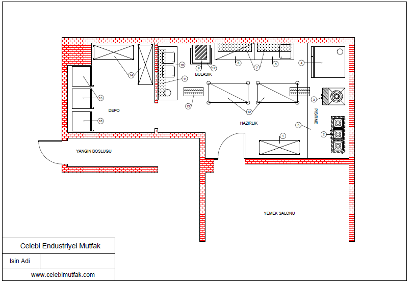 endüstriyel mutfak yerleşim projesi