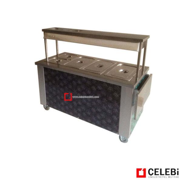 Arabalı Benamri tezgah elektrikli tekerlekli ısıtıcı