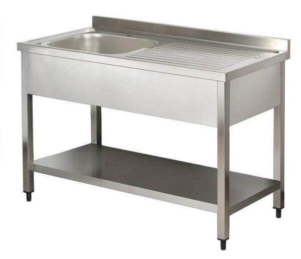 Eviyeli çay ocağı tezgahı paslanmaz çelik lavabo