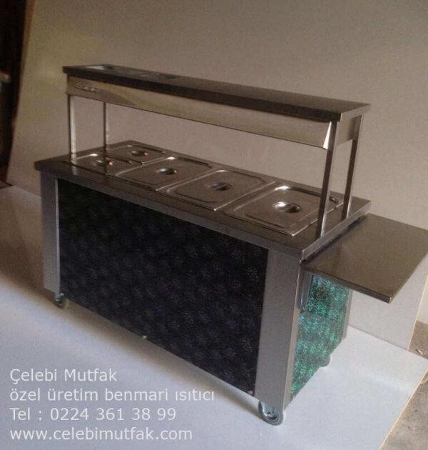 tekerlekli benmari ısıtıcı tezgah