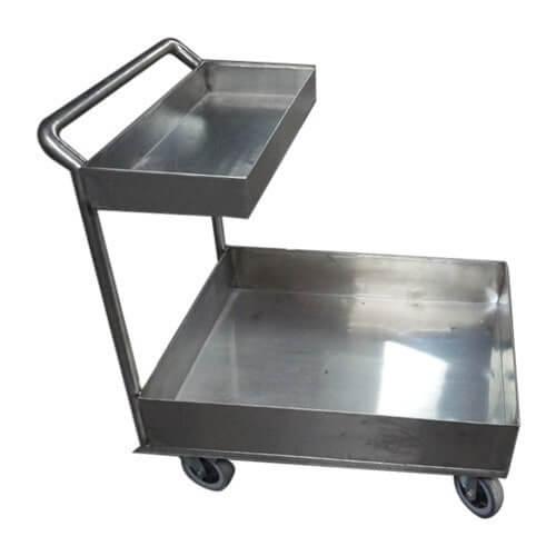 Hastane krom taşıma arabası